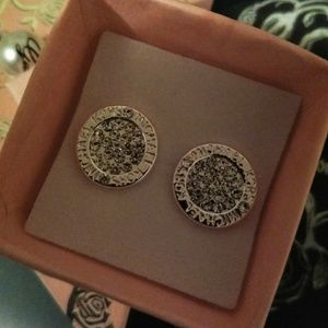 Silver Crystal Studs- Unbranded